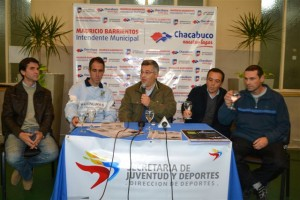 """Barrientos en la presentación de la Maratón """"Todos por todo"""" en Chacabuco."""