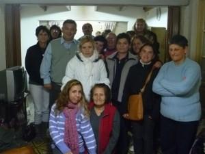 Barrientos en la reunión con mujeres de Chacabuco.