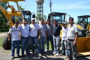 Barrientos en el corralón municipal de Chacabuco.