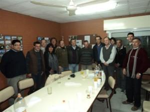 Barrientos estuvo en el Radio Club Chacabuco.