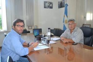 Barrientos junto a Alejandro Biancosino .