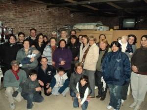 Barrientos con vecinos de los barrios de Chacabuco.