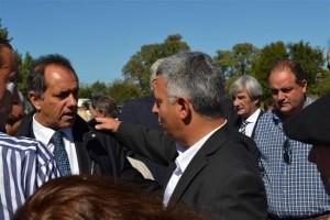 Barrientos con el Gobernador Scioli.