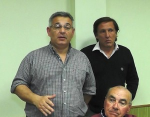 Barrientos reunido con Bomberos.
