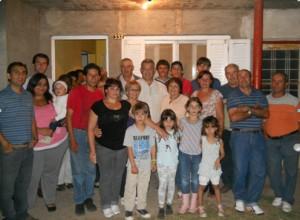 Barrientos en la casa de la Familia Gianni.