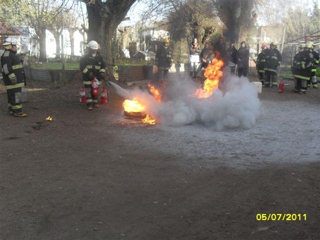 Con interés se sigue el accionar de Bomberos Voluntarios de Castilla.