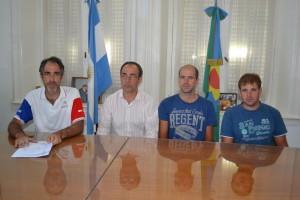Brindisi recibió a los hermanos Broggi que competirán en la Doble Bragado.