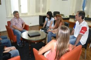 Barrientos reunido con integrantes  del CECHLP.
