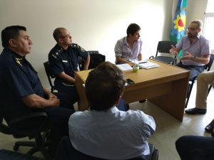 Reunión en la Comisaría de Chacabuco.