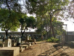 Trabajos en el cementerio de Chacabuco.