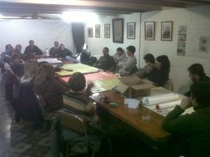 Mariano Camera en la reunión con colaboradores.