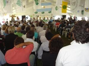 Firme reclamo del campo en Chacabuco.