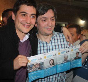Martin Carnaghi con Máximo Kirchner