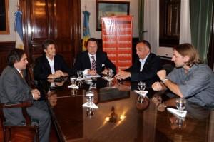 Franetovich y Casal se reunieron hoy con el titular de CARBAB, Pedro Apaolaza.
