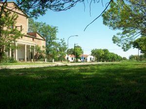 Vista de la Iglesia y Hospital de Castilla.
