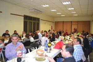 Cena con el sector de obras civiles de la Cooperativa Eléctrica.