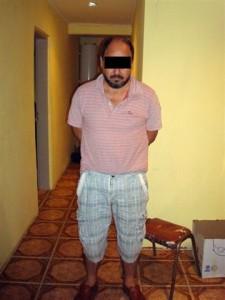 """Imagen del colombiano detenido tras el operativo """"Reja Blanca""""."""