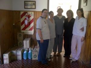 Donación del PRO Chacabuco al Hogar de Ancianos San José.