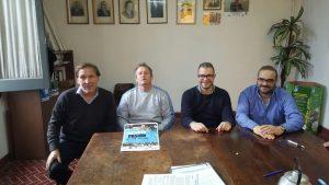 Los concejales del PJ-FPV se reunieron con Jorge Giménez organizador del evento.