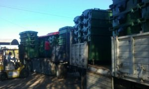 LLegaron 99 contenedores a Chacabuco.