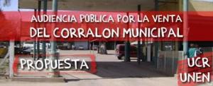 Proponen audiencia por la venta del corralón municipal de Chacabuco.
