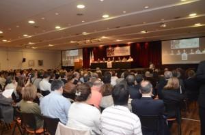 Auditorio colmado en la apertura del encuentro nacional de radicales.