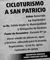 Cicloturismo.