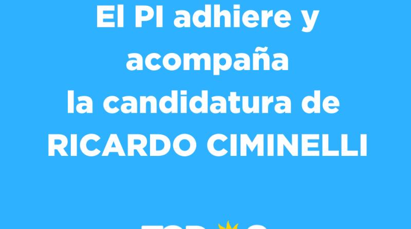 El PI se suma a la campaña de Ricardo Ciminelli.