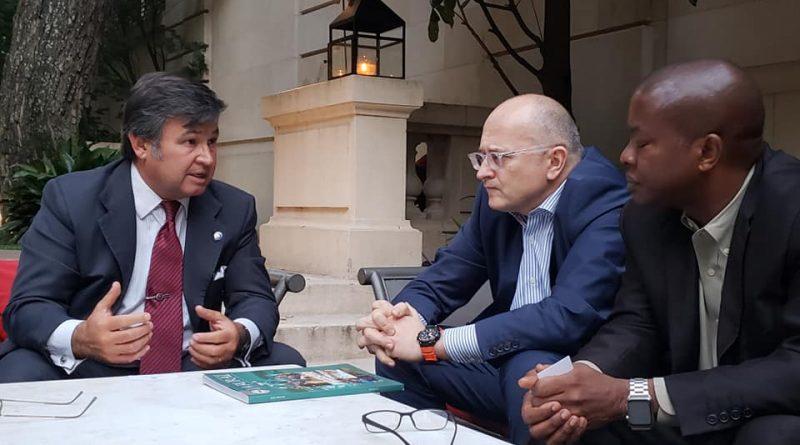 Pelegrina, presidente de la SRA reunido con la misión del FMI