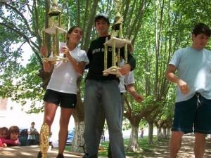 Magdalena María y Adrián Zapata ganadores de la 3er. Maratón Rawson 2009.