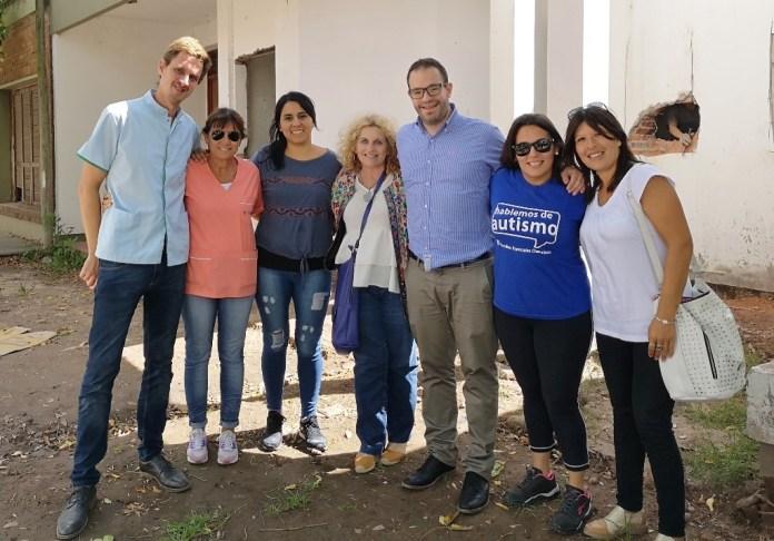 Domínguez, Chielli, Zabaglio y Duclos en Mercedes.