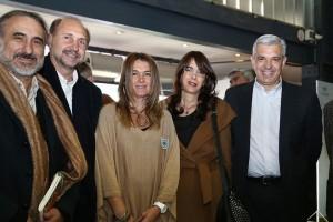 Luis Basterra, Omar Perotti, Beatriz Giraudo, María Eugenia Bielsa y Julián Domínguez.