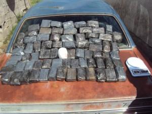 Droga incautada por la Policía en Olavarria.