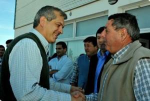 Julián Domínguez y Alfredo De Angeli en Entre Ríos.