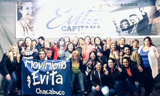 Reunión en el Movimiento Evita Chacabuco