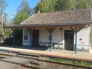 Imagen de la abandonada estación de Rawson.