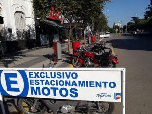 Estacionamiento para motos.