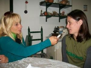 Paula Etchart en la nota que le realizó Mónica del Castillo.
