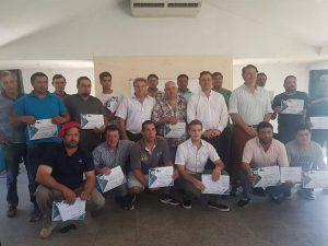 Entrega de los certificados del curso de Maquinistas Viales