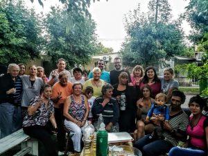 Domínguez en el Barrio Malvinas.