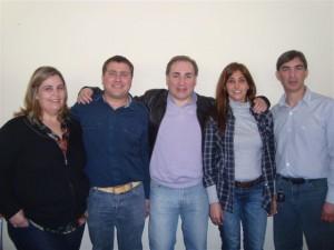 Maximiliano Felice y Ana Rodrigo en reunión seccional del Frente Progresista.