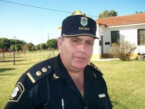 Jefe Distrital de Policía de Chacabuco Darío Ferrero.