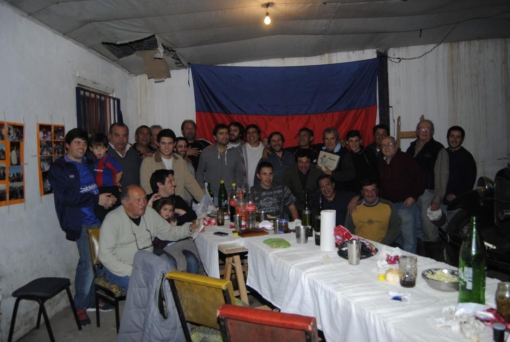 Festejo en Rawson por la obtención de la Libertadores.