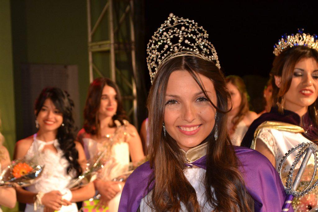 Aldana Grammático, Reina de la de la XXXIII Fiesta Provincial de la Primavera en Rawson.