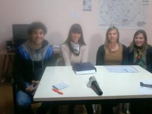 Leticia Ventimiglia; David Checho coordinadores Envión y Verónica Unsáin; Paola Bonafini de coordinadoras Fines.