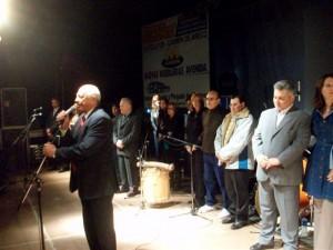 El Delegado Municipal de Rawson Néstor Daniel Micucci en la inauguración de la fiesta.