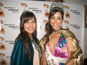 Delfina Colombo, Miss Simpatía 2012 y Karina Cataldo, actual Reina.