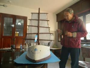 Carlitos trabajando en la fragata.