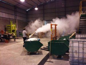 Fumigación en Planta de Reciclado