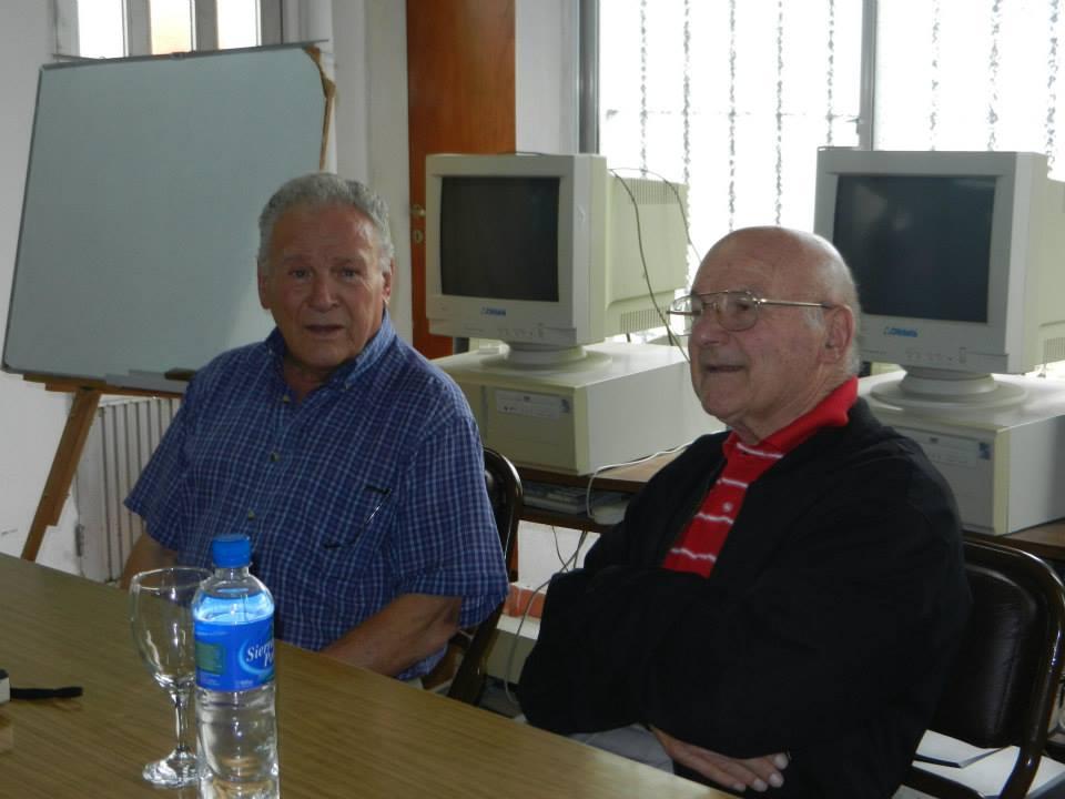 El Dr. Norberto Gabino Pérez junto a Omar Cristóbal García.